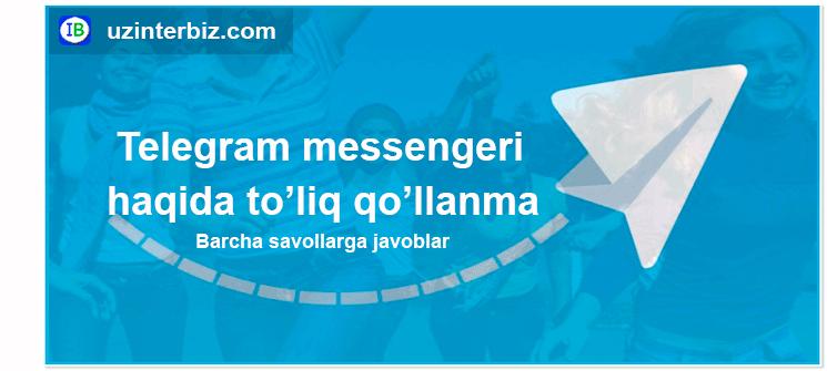 Telegram uchun qo'llanma