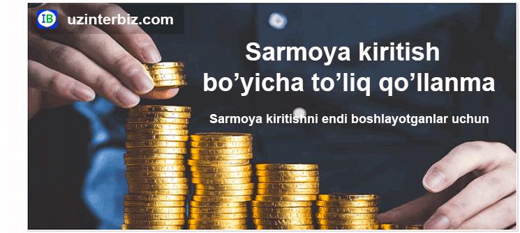 Sarmoya haqida qo'llanma