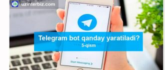 Telegram bot yasash