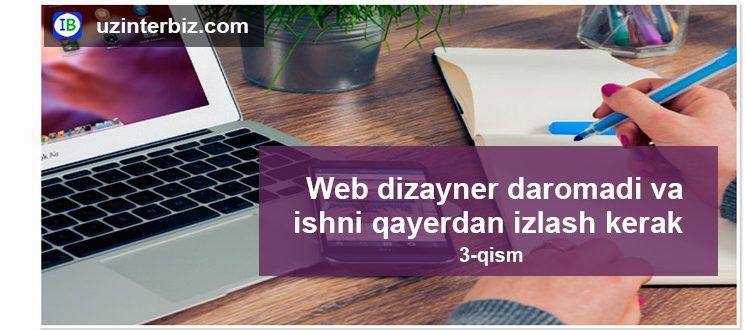 Web dizayner uchun ish